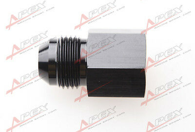 "-8AN AN8 Male Thread To 1/4"" NPT Female Straight Aluminum Adaptor Fitting Black"