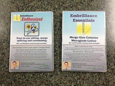 Mac Embroidery Software Bundle Embrilliance Essentials & Enthusiast