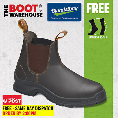 Blundstone 405 'Max Comfort' Work Boots. Elastic Sided, Leather, Non Safety.