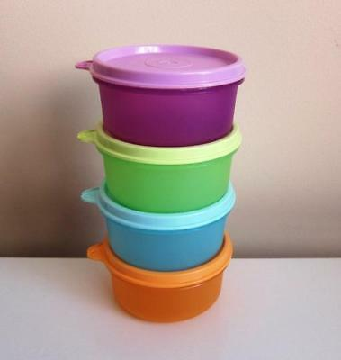New Tupperware 200ml Snack Round Container Set (4)