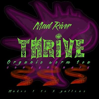 Mad River Super THRIVE organic Worm tea Nutrient mix. Makes up to 5 gallons!
