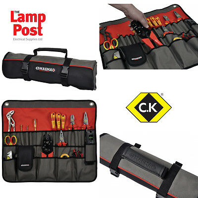 CK Magma MA2718 - 30 Tools Tool Plier Screwdriver Pocket Roll Pouch Bag Case