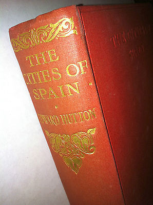 Spain Spanish cities, early 20th century, color illustrated, Hutton, travelogue