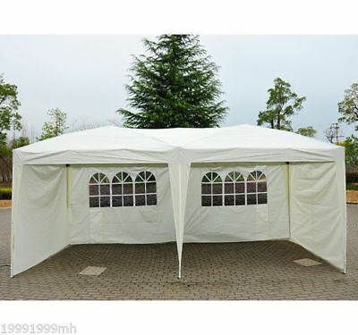 10x20ft Pop Up Party Wedding Tent Patio Instant Canopy w/ 4 Sidewalls Outdoor