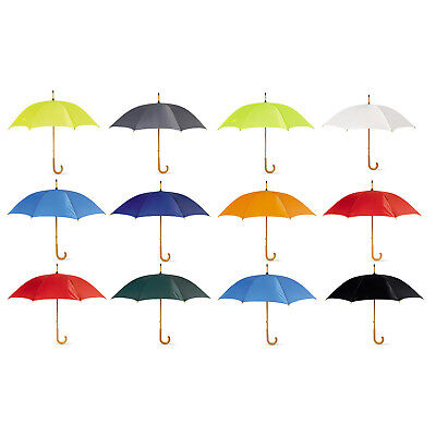 SUMMER CLASSIC WOMEN UMBRELLA  with Crooked Wooden Handle