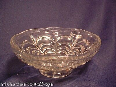 Antique EAPG Flint Glass Compote in Drape Pattern Circa 1850-60