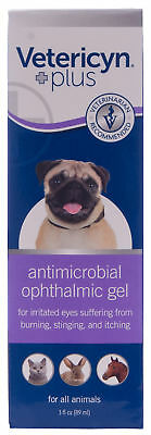 Vetericyn Ophthalmic Gel dogs Cats Horses irritated eyes,Infections New 3oz size