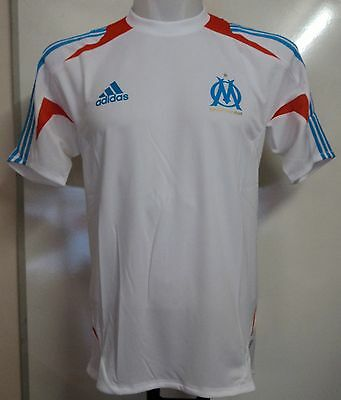 Olympic Marseille 2012/13 White Training Shirt By Adidas Size 44/46 Inch Chest