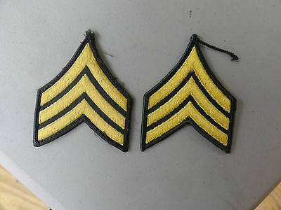 Military Patch Us Army Cloth Rank Set Of 2 Sergeant E-5 For Class A Uniform