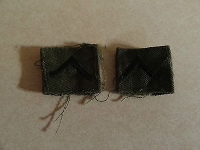 Military Patch Us Army Cloth Rank Set Of 2 Private E-2 Sew On Collar