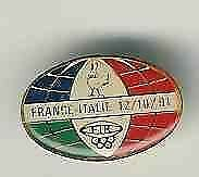 France V Italy 12/10/91 Rugby Pin Badge