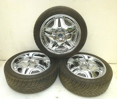 Dodge Nitro - 3 Only 20 T.i.s.chrome Alloy Wheels With 255/45 R20 Tyres (Parts)