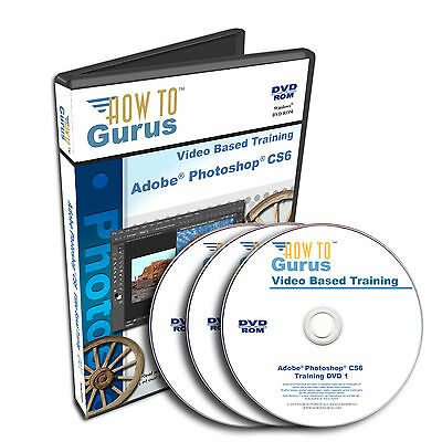 New! PHOTOSHOP CS6 Tutorial Training Course 20 hours on 3 DVDs English Language