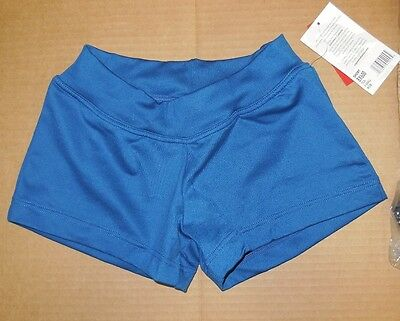 NWT Capezio BX600 Teal  Waist Booty Shorts Dance Adult sizes
