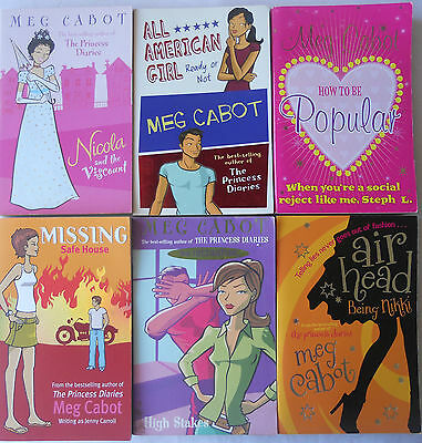 MEG CABOT BULK BOOK PACK - Set of 6 Books - AUTHOR PRINCESS DIARIES