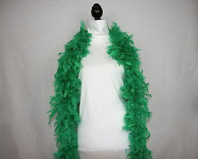 GREEN FEATHER BOAS CHANDELLE  6 Feet 60 grams BEST PRICE Retail $9.99 to $14.99