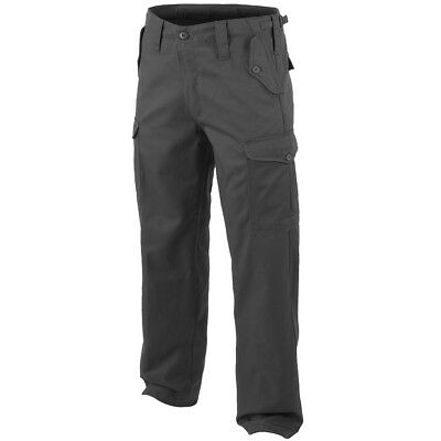 Highlander Heavy Weight Patrol Combats Mens Cargo Trousers Security Pants Black