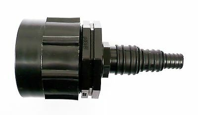"""IBC Adapter (H/D)  to STEPPED Hose Tail. 1/2"""", 3/4"""", 1"""".  Tank Bio Diesel Fuel"""