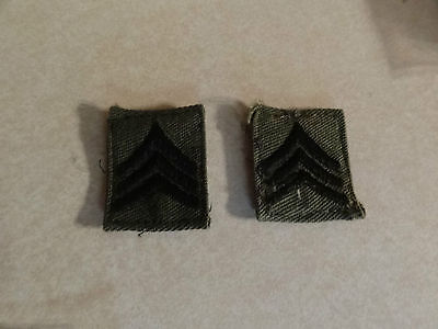 Military Patch Us Army Cloth Rank Set Of 2 Sergeant E-5 Sew On Collar