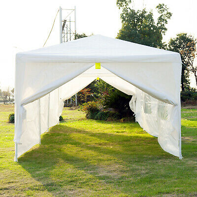10' x 30' Canopy Party Wedding Cater Tent Gazebo w/ 6 Removable Window Side Wall