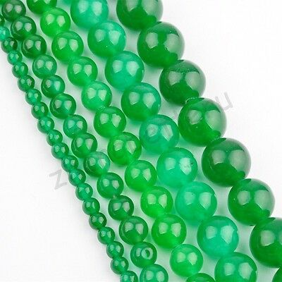 Natural Malay Jade Gemstone Round Loose Spacer Beads 16'' Strand 4 6 8 10 12 mm