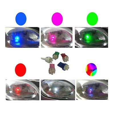 1 X Pair Pink 6 Led Sidelight Bulbs 501 W5W T10 Uk Seller Quick Dispatch