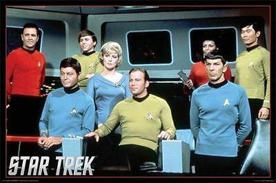 STAR TREK - ORIGINAL SERIES CAST POSTER - 24x36 SHRINK WRAPPED KIRK SPOCK 241151