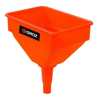 "Large Plastic Garage Funnel and Filter Heavy Duty 10"" - 280 mm x 190 mm"