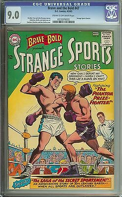 Brave And The Bold #47 Cgc 9.0 Cr/ow Pages // Strange Sports Stories
