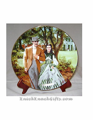 """HOME to TARA""  GONE with the WIND PLATE 1989"
