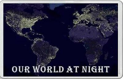 OUR WORLD AT NIGHT FRIDGE MAGNET Earth from space astronomy gift