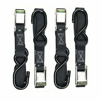 Two Pairs H/duty Oneal Motorcycle Tie Downs Motorbike Tie Down Straps Black