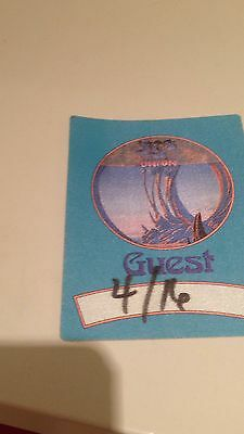 YES 1991 UNION TOUR BACKSTAGE GUEST PASS. Dated But Not Used.
