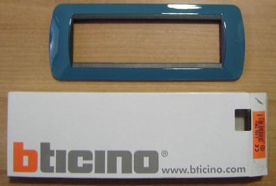 BTICINO L4807BU Placca Living International 7 moduli blu metro