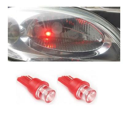 Red Single Led Sidelight Bulbs 1 X Pair 501 W5W T10 Uk Seller Quick Dispatch