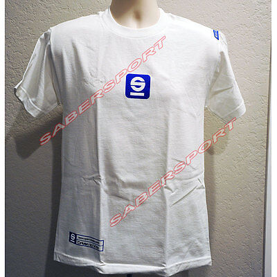 """""""in Stock"""" Authentic Sparco Apparel """"tach"""" T-Shirt White - Size- Medium"""