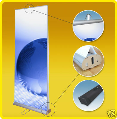 33x79 Double Side Retractable Roll Up Tradeshow Display Banner Stand
