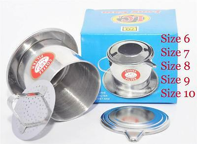 Vietnamese Coffee Filter Press Maker -Stainless Steel / Full Size 6-7-8- 9-10