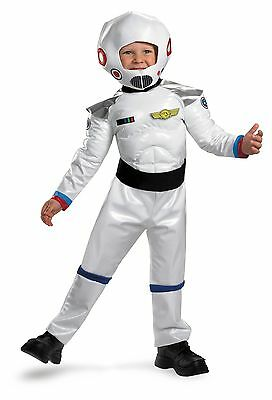 Boys Astronaut Costume Space Suit Blast Off Toddler Childs Kids White MUSCLE