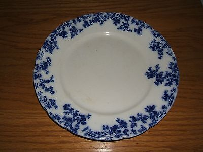 """FLOW BLUE """"OLYMPIA"""" W. H. GRINDLEY ENGLAND 10"""" DINNER PLATE"""