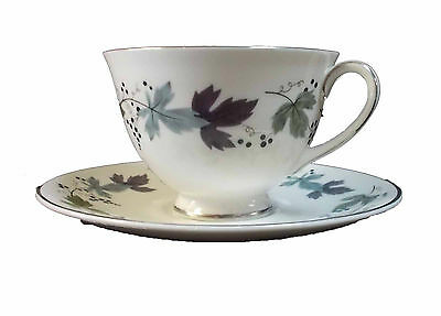 ROYAL DOULTON china BURGUNDY TC1001 pttrn CUP & SAUCER