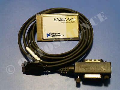 National Instruments PCMCIA-GPIB Interface Card with Latching Cable