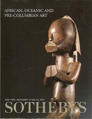 SOTHEBY'S AFRICAN OCEANIC PRE-COLUMBIAN TRIBAL MASK ART Auction Catalog 2000