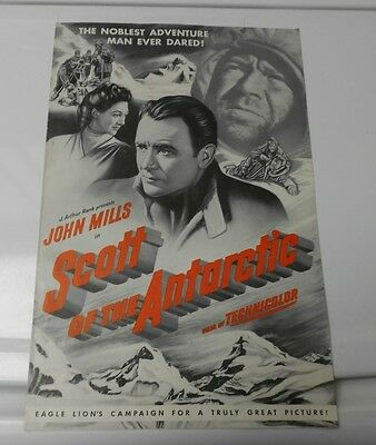 1948 SCOTT OF THE ANTARCTIC Press Book PressKit FN+ John Mills Diana Churchill