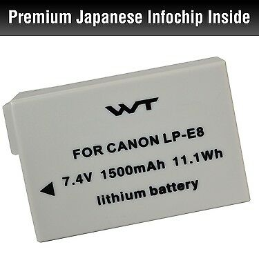 WT-LPE8 WT Nixxell Battery For Canon LP-E8, EOS 550D, EOS 600D.