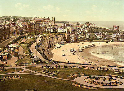 Vintage Edwardian Seaside Photochrome Photo Reprint Broadstairs A4