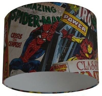 Marvel Comic Strip - Amazing Spider-man - Iron Man Handmade Wallpaper Lampshade