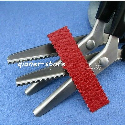 Leather Scalloped Round Sharp Tooth Scissors Lace Scissors