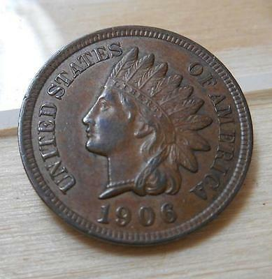 1906 Indian Head Penny-Brown/Bronze Tone -  4 Diamonds (IHP201406)**SPECIAL**