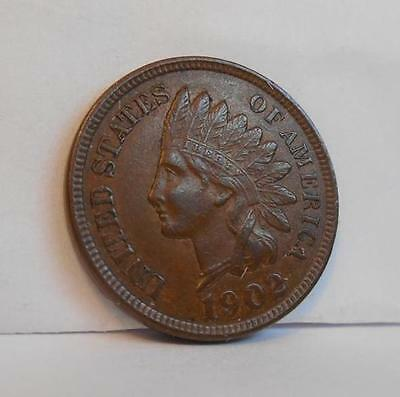 1902 Indian Head Penny- Rich Brown Tone -  4 Diamonds (IHP201402)**SPECIAL**